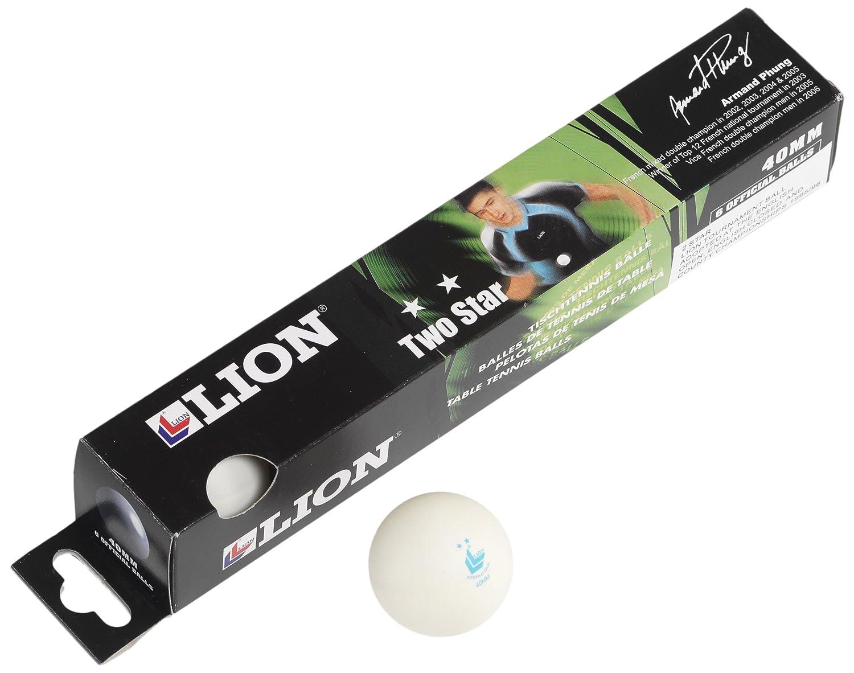 Lion 2 Star Table Tennis Balls - White