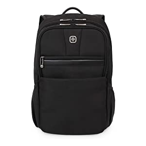 SWISSGEAR Durable 15-inch Laptop Backpack | Padded Computer Sleeve | Travel, Work, School | Men's and Women's - Black (Color: Black, Tamaño: large)
