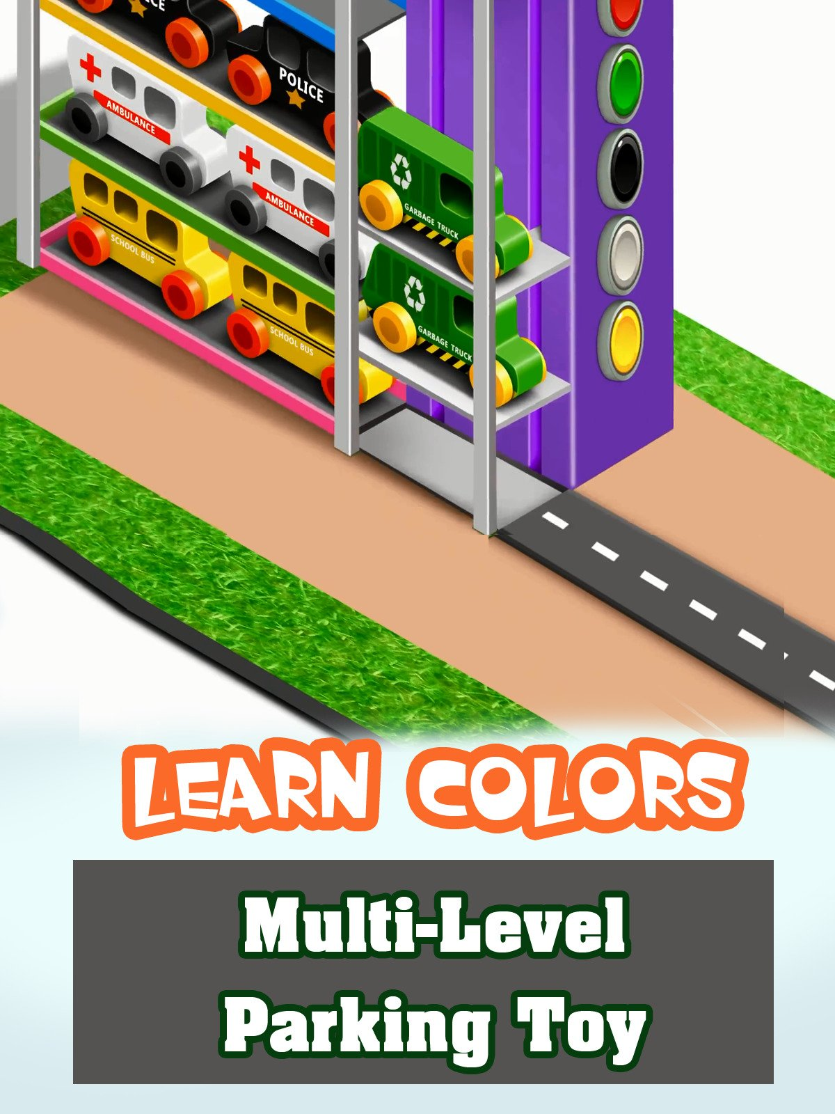 Learn Colors Multi-Level Parking Toy