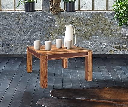 Wohnzimmertisch Shan Sheesham Shina 80x80 cm Maserung Massivholz Couchtisch