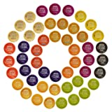 Nescafé Dolce Gusto Capsules All-inclusive Set, 50 Capsules - Variety Pack - Gift Wrap Available! (Color: Black, Tamaño: Servings per flavor)
