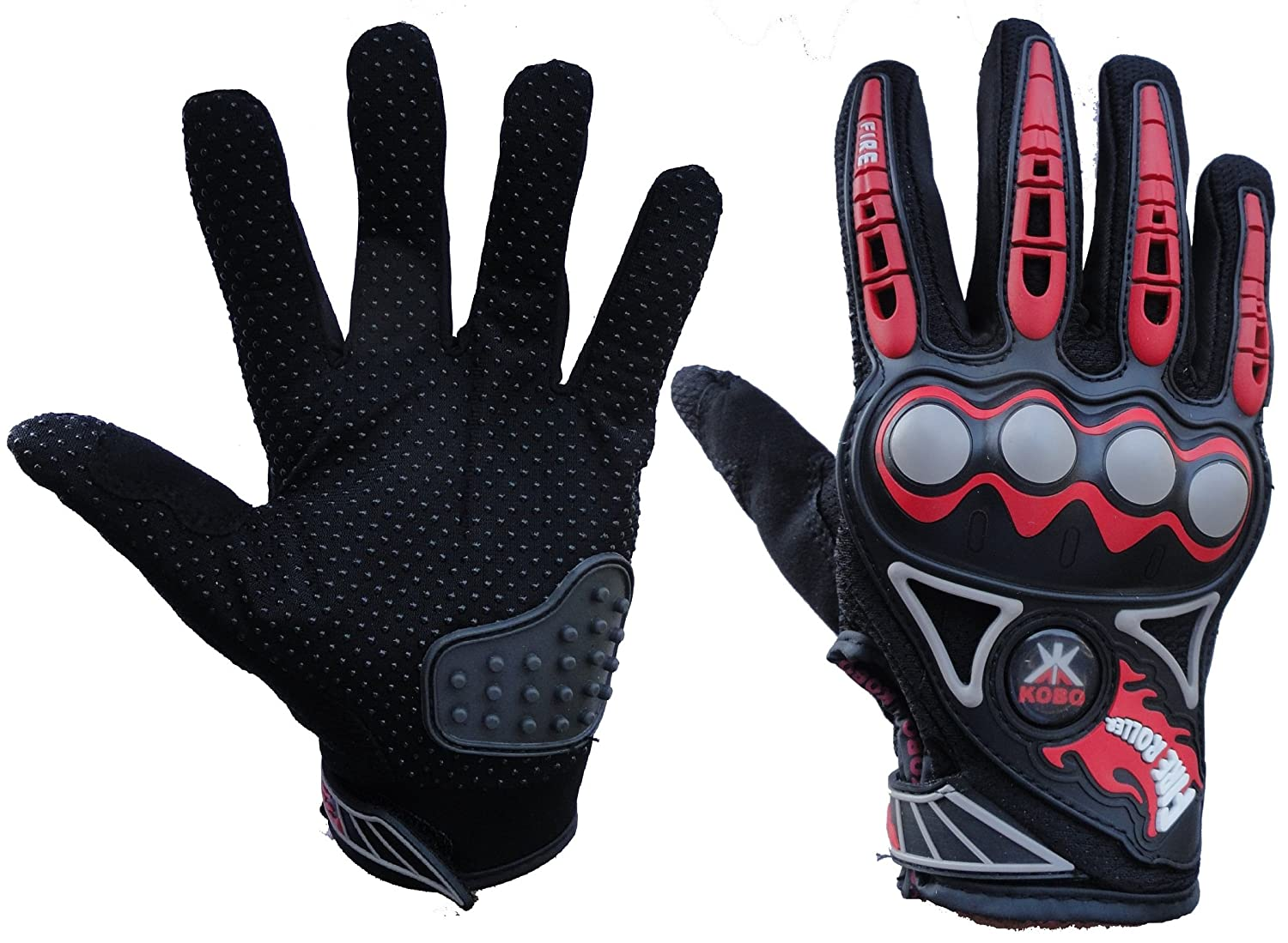 Motorcycle leather gloves india - Probiker Imported Mesh Fabric Fire Roller Motorcycle Gloves Red X Large Amazon In Car Motorbike