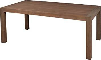Dining Table Solid Acacia Grey 1 Extension L180
