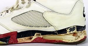 12e7a5c7f21d Bulls Michael Jordan Signed 1990 Game Used Nike Air Jordan V Shoes BAS
