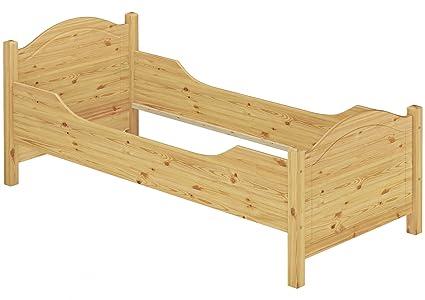 Seniorenbett extra hoch 100x220 Überlänge Massivholz Holzbett Einzelbett Gästebett 60.40-10-220 oR