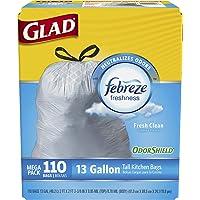 110-Count Glad OdorShield Drawstring 13-Gallon Trash Bags