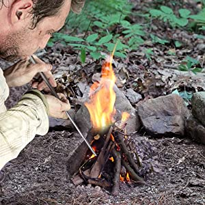 Jonhen Campfire Tool Pocket Bellows Builds Fire By Blasting Air,Camping Gear Collapsible Fire Tool (Color: Collapsible Fire Tool, Tamaño: Extends to 30.5)