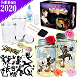 FunzBo Fairy Lantern Craft Kit for Kids - Arts and Crafts Jar Nightlight for Girls Age 6 7 8 9 10 Year Old Christmas Halloween Decorations Supplies Gift - Indoor Outdoor Garden DIY Deco Art Project (Tamaño: XX-Large)