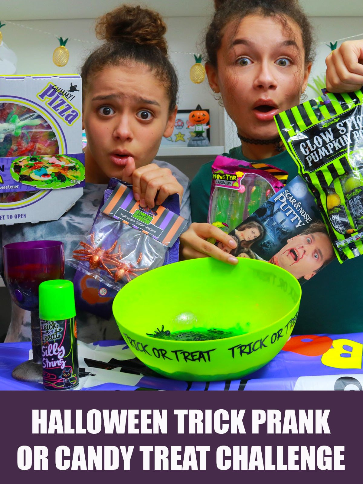 Halloween Trick Prank or Candy Treat Challenge