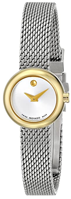 Movado Women's 0606779 Dot Gold-Plated Dress Watch with Mesh Band -  womens watches - watches womens - ladies watches - watches for women