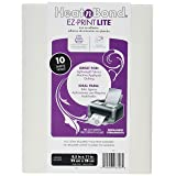 Thermo Web 3358 Heat and Bond EZ-Print Lite Iron-On Adhesive, 8-1/2 by 11-Inch, White, 10-Pack (Color: White, Tamaño: 1 pack)