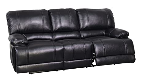 Global Furniture Reclining Sofa, Kelton Black
