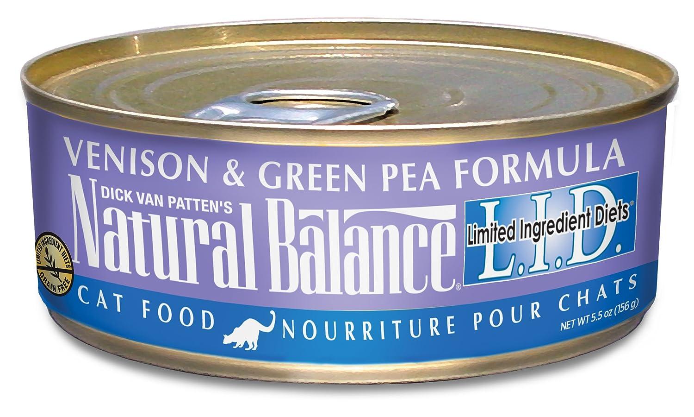 Dick Van Patten's Natural Balance LID Venison and Green Pea Formula Canned Cat Food (Case of 24), 5.5 oz. greens today men s formula 26 4 oz