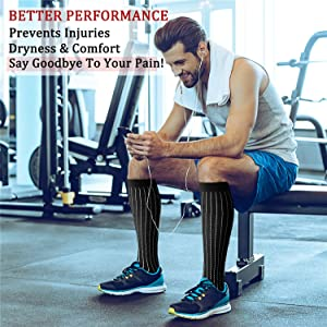 CHARMKING Compression Socks 15-20 mmHg is BEST Graduated Athletic & Medical for Men & Women Running, Travel, Nurses, Pregnant - Boost Performance Blood Circulation & Recovery(Large/X-Large,Assorted18) (Color: 09 Black/Black/Black/Navy/Black/Blue/Red/Yellow, Tamaño: Large/X-Large (US Women 8-15.5/US Men 8-14))