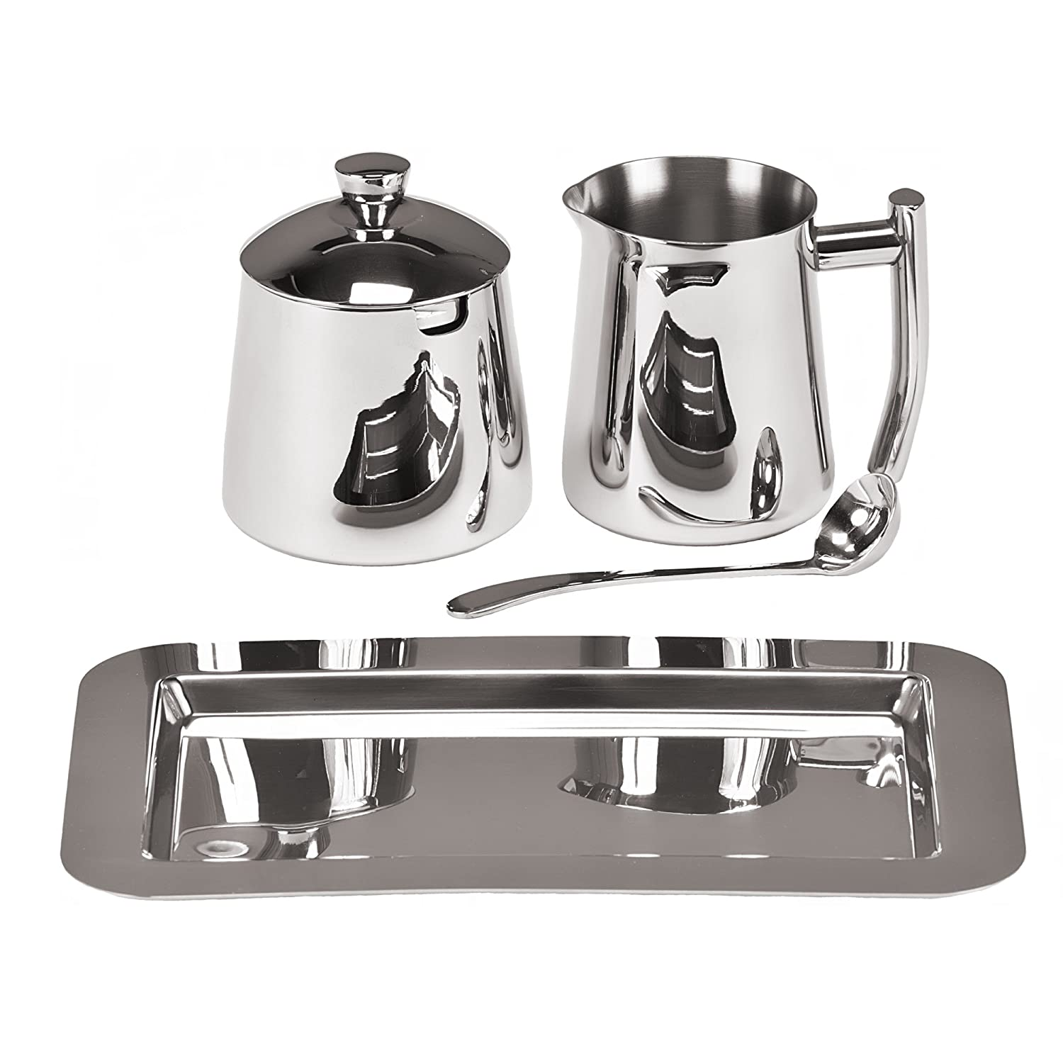 amazoncom  frieling  stainless steel creamer and sugar bowl  - amazoncom  frieling  stainless steel creamer and sugar bowl setcream and sugar sets cream  sugar sets