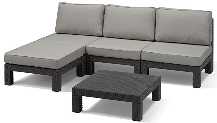 Allibert 206994 - outdoor furniture sets (Anthracite, Polypropylene (PP))