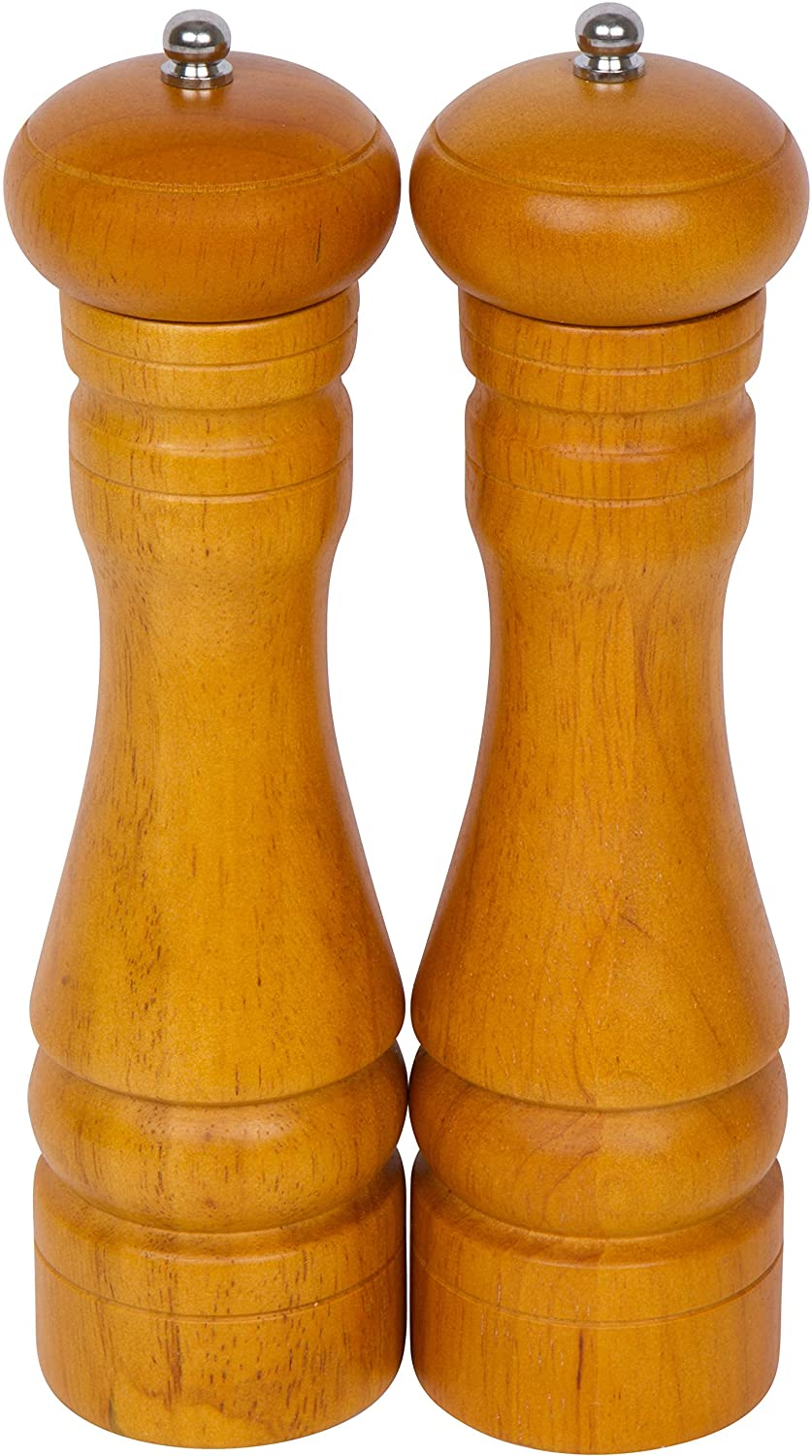 Set of 2 Wood Pepper Mill and Grinder by Trademark Innovations