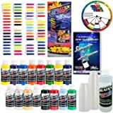 Createx KIT-SUPER16 Airbrush Super Starter Kit With Pack of 100 - 1 Ounce Paint Mixing Cups, Airbrush Book, Createx Color Chart of all 80 Colors and Pocket Mixing Color Pocket Wheel (Tamaño: 16-Color Super Set)
