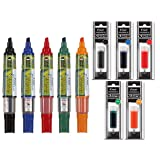 Refillable Dry Erase Markers, Pilot BeGreen V Board Master Assorted Colors, 5-Pack With 1 Refill For Each Marker (Color: Assorted Colors, Tamaño: 10-Pack)