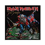 Iron Maiden The Trooper Patch Single Cover Art Heavy Metal Woven Sew On Applique (Color: Black, Tamaño: Small)