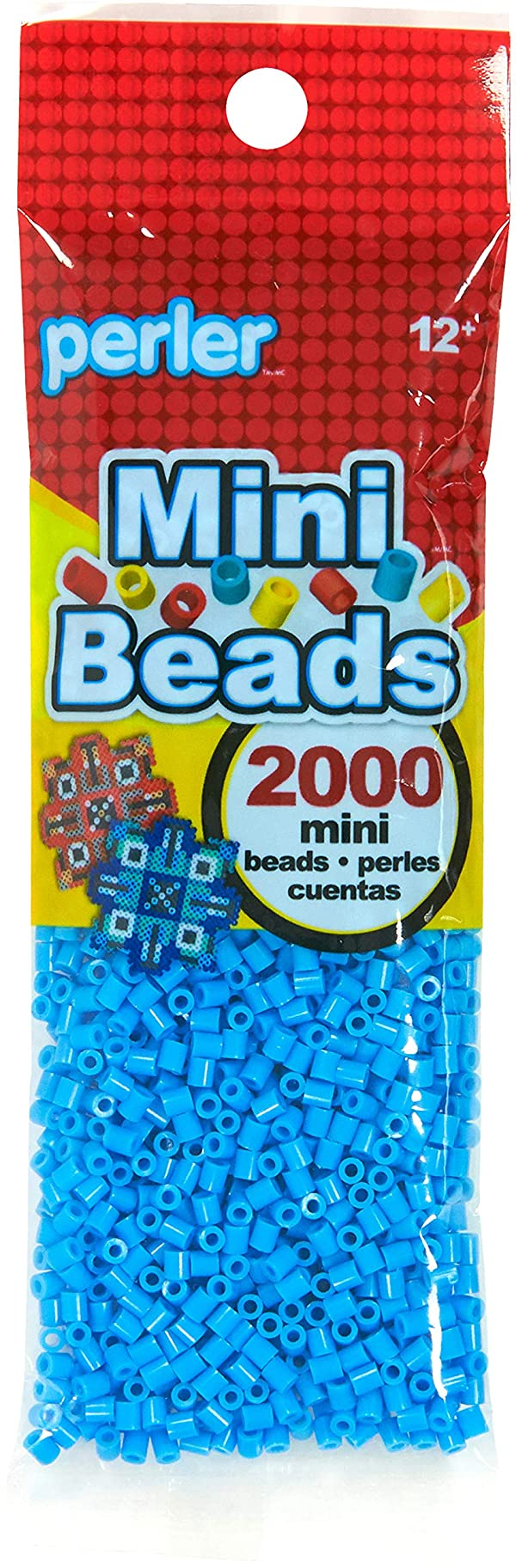 Perler Turquoise Blue Mini Beads for Kids Crafts, 2000 pcs (Color: Turquoise)