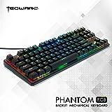 HLOIPYUR Mechanical Gaming Keyboard N-Key Rollover 108 Keys 9 Touch Keys RGB Backlight Blue//Black Switch Wired Keyboard