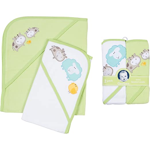 Amazon.com : Gerber Hooded Towels, Sheep, 2-Count : Baby Bath Towels : Baby