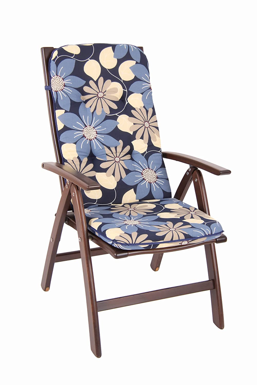 Dajar Stühle und Sessel Auflage Etna Hoch 6 cm, blau
