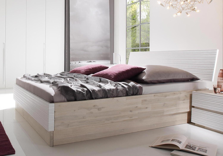 Stilbetten Bett Holzbetten Hasena Coast Line Bett Akazie massiv, weiß lackiert 180×200 cm jetzt bestellen