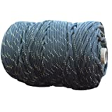 X-cords Paracord 850 Lb Stronger Than 550 and 750 Made By Us Government Certified Contractor (200' BLACK DIAMOND KEVLAR TUBE)