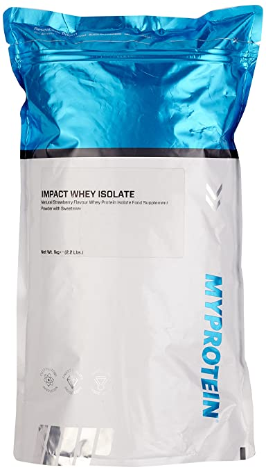 Myprotein Impact Whey Isolate Protein Natural Strawberry, 1er Pack (1 x 1 kg)