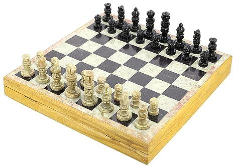 Dimensioni: 30,5 x 30,5 Cm, jeux dechec unica Rajasthan pietra arte Sets e scheda