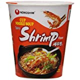 NongShim Noodle Cup, Spicy Shrimp, 2.36 Ounce (Pack of 6)