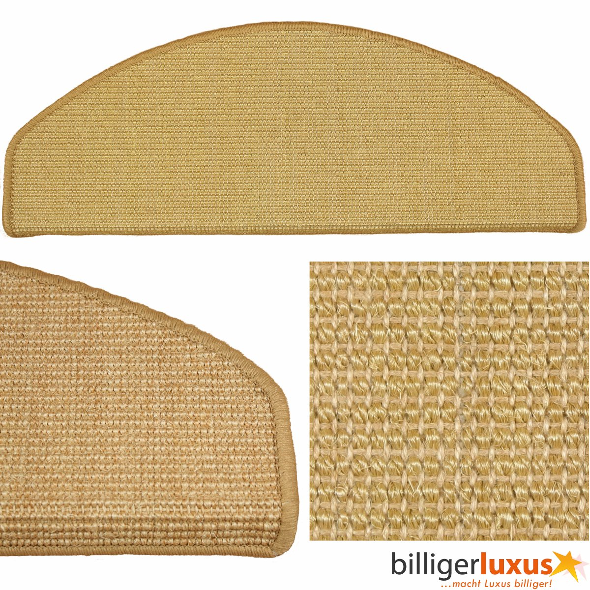 15 x teppich stufenmatten treppenstufen 100 sisal natur kundenbewertung und beschreibung. Black Bedroom Furniture Sets. Home Design Ideas