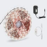 LED Strip Light, GOORRY Touch Dimmable Control LED Cabinet White Light, 16.4 ft / 5m 12V 300 Unit SMD 2835 LED, Waterproof IP65 Tape, 6000K Daylight White Bathroom Bookshelf Stair Party Kitchen Light (Color: White)