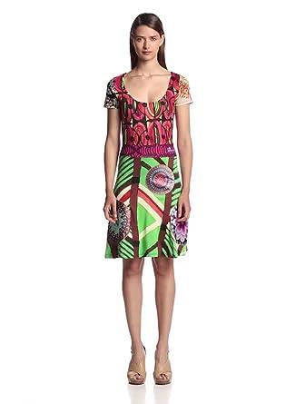 Desigual Vest Praga Wrap Women's Dress Rosa Helado Size 14