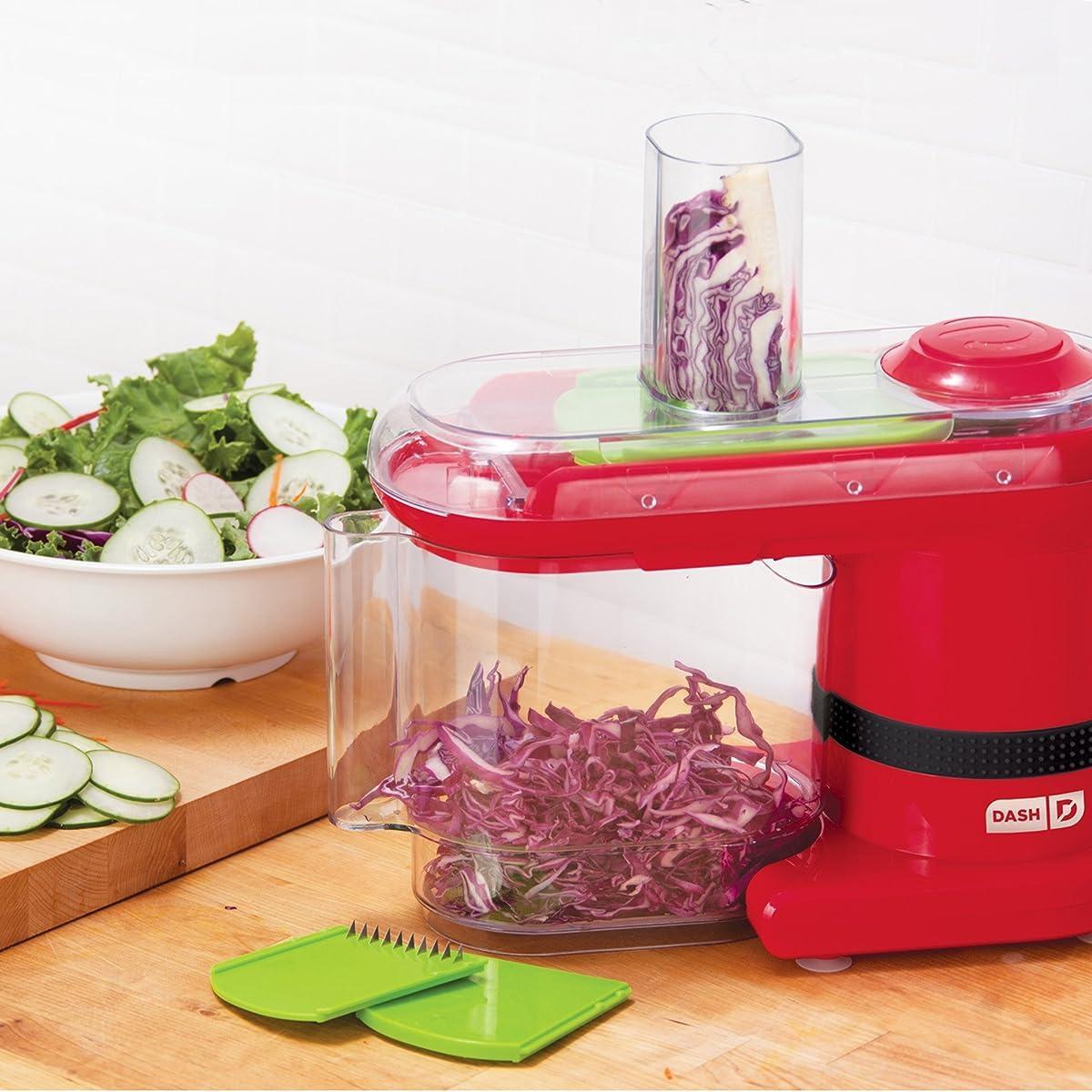 Dash Electric Mandoline & Food Slicer, Red