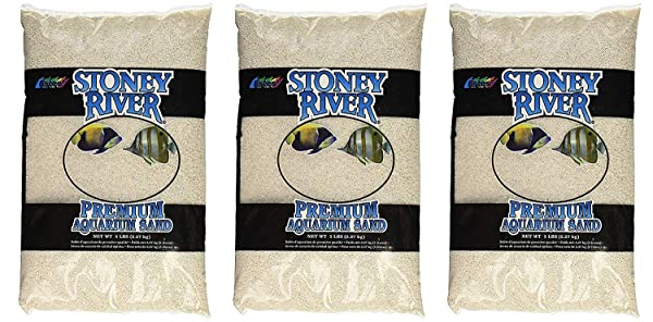 Stoney River White Aquatic Sand Freshwater and Marine Aquariums, 5-Pound Bag (?hree P?ck) (Tamaño: ?hree P?ck)
