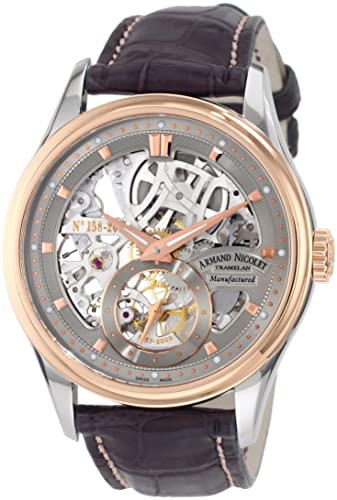 Armand Nicolet Men's 8620S-GL-P713GR2 LS8 Limited Edition Skeleton Two-Toned Hand-Wind Watch