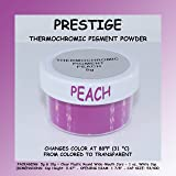 Prestige THERMOCHROMIC Pigment That Changes Color at 88°F (31 °C) from Colored to Transparent (Colored Below The Temperature, Transparent Above) Perfect for Color Changing Slime! (5g, Peach) (Color: PEACH, Tamaño: 5g)