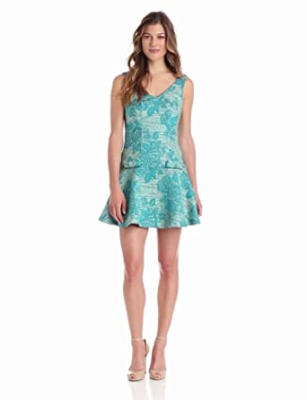 Eva Franco Women's Gatsby Dress, Peacock Parfait, 4
