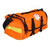 Empty First Responder On Call Trauma Kit Bag W/ Reflectors Orange (Color: Orange)