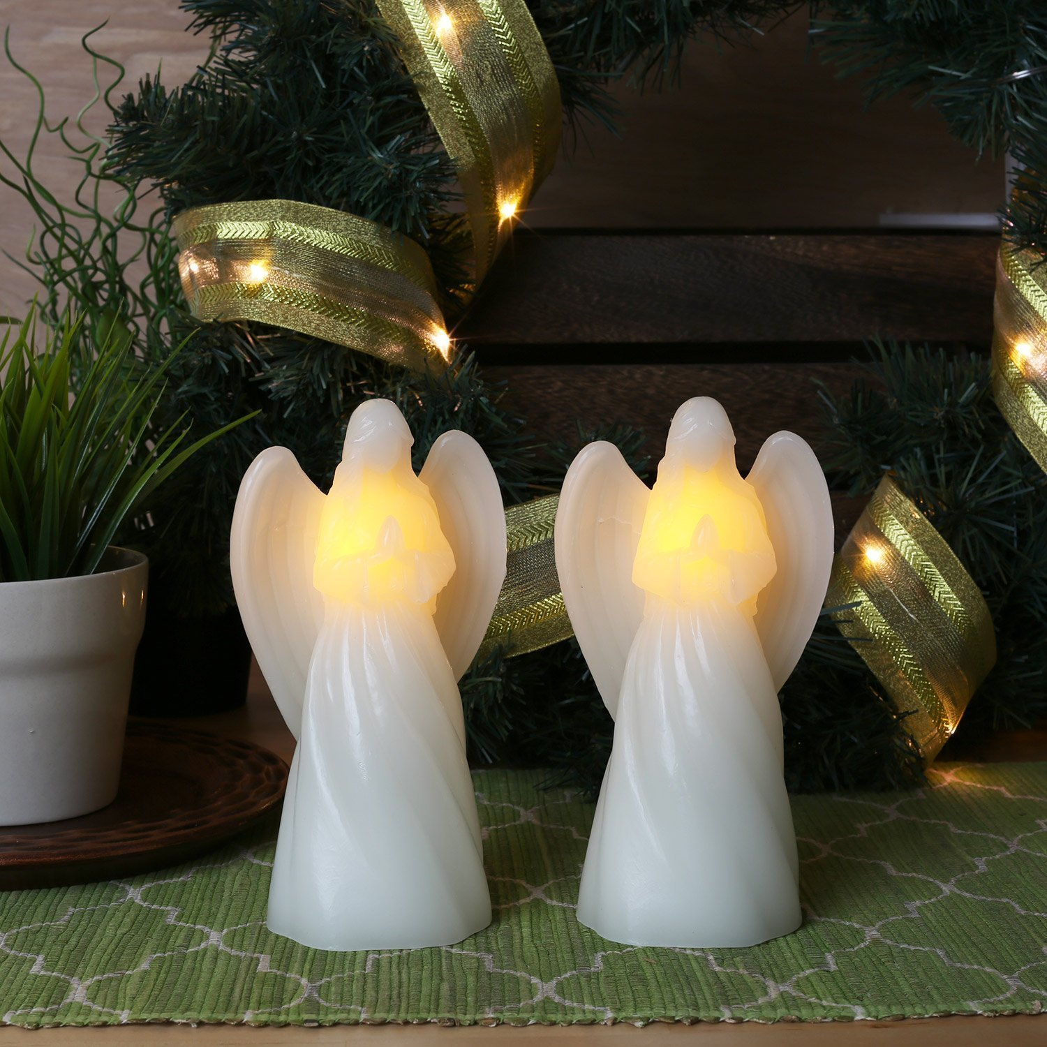 Angel Flameless Candles with Timers