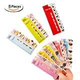 Cute Cartoon Sticky Notes,Fashionclubs Kawaii Animals Bookmarks Memo Note Pads Page Flag Index Tabs,8-Pack(960sheets) (Color: Multi, Tamaño: 12.5cm/4.inch x 5cm/1.96inch)