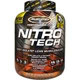 Muscletech, Performance Series, Nitro-Tech, Whey Isolate + Lean Musclebuilder, Milk Chocolate, 3.97 lbs (1.80 kg) - 2pc