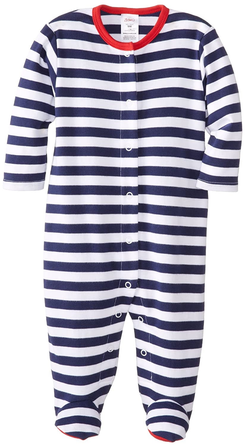 Zutano Unisex-Baby Newborn Primary Stripe Footie newborn baby boy girl infant warm cotton outfit jumpsuit romper bodysuit clothes