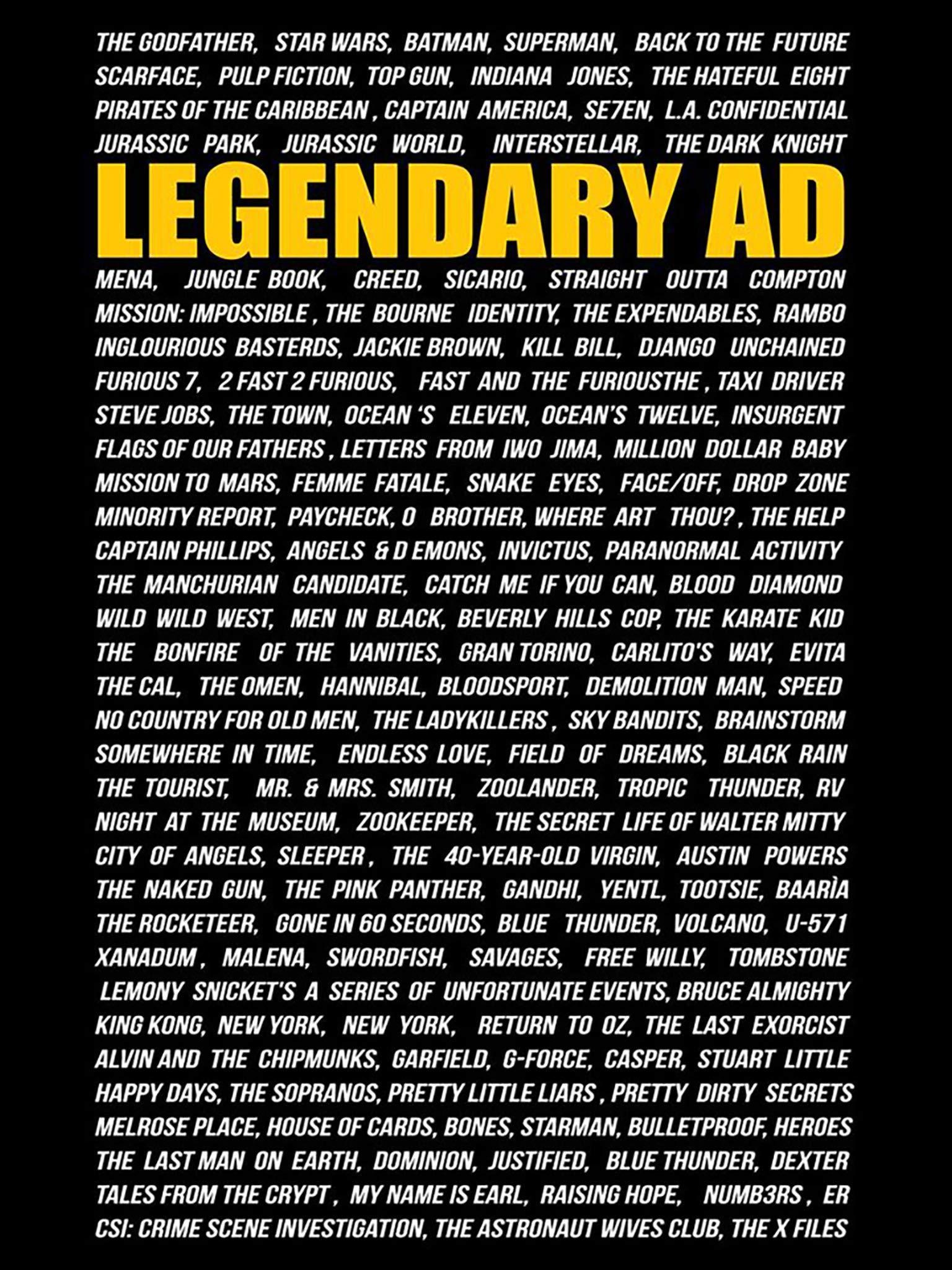 Legendary AD on Amazon Prime Video UK