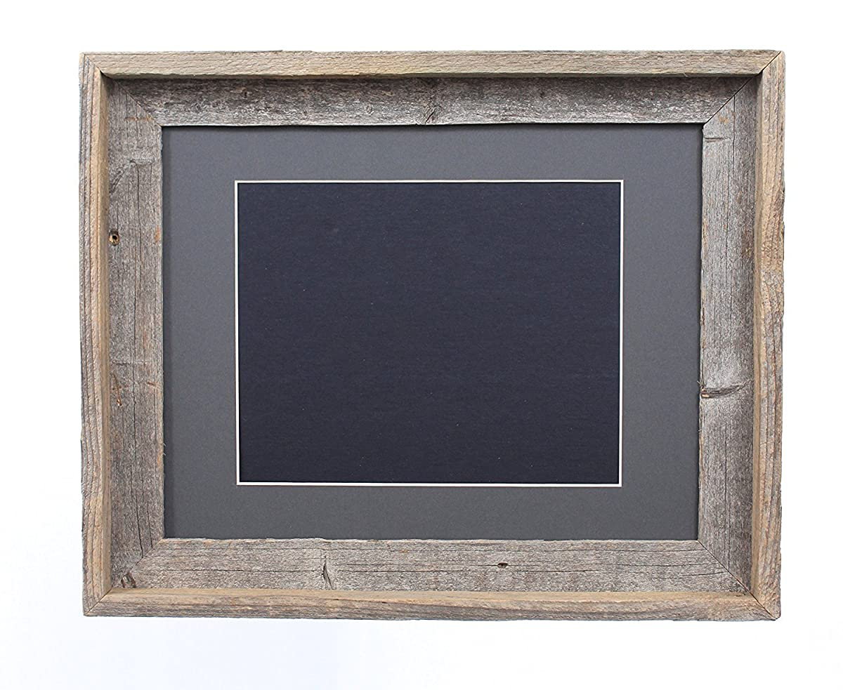 barnwoodusa 16x20 inch signature picture frame for 11x14 photos 100 reclaimed wood cinder mat. Black Bedroom Furniture Sets. Home Design Ideas