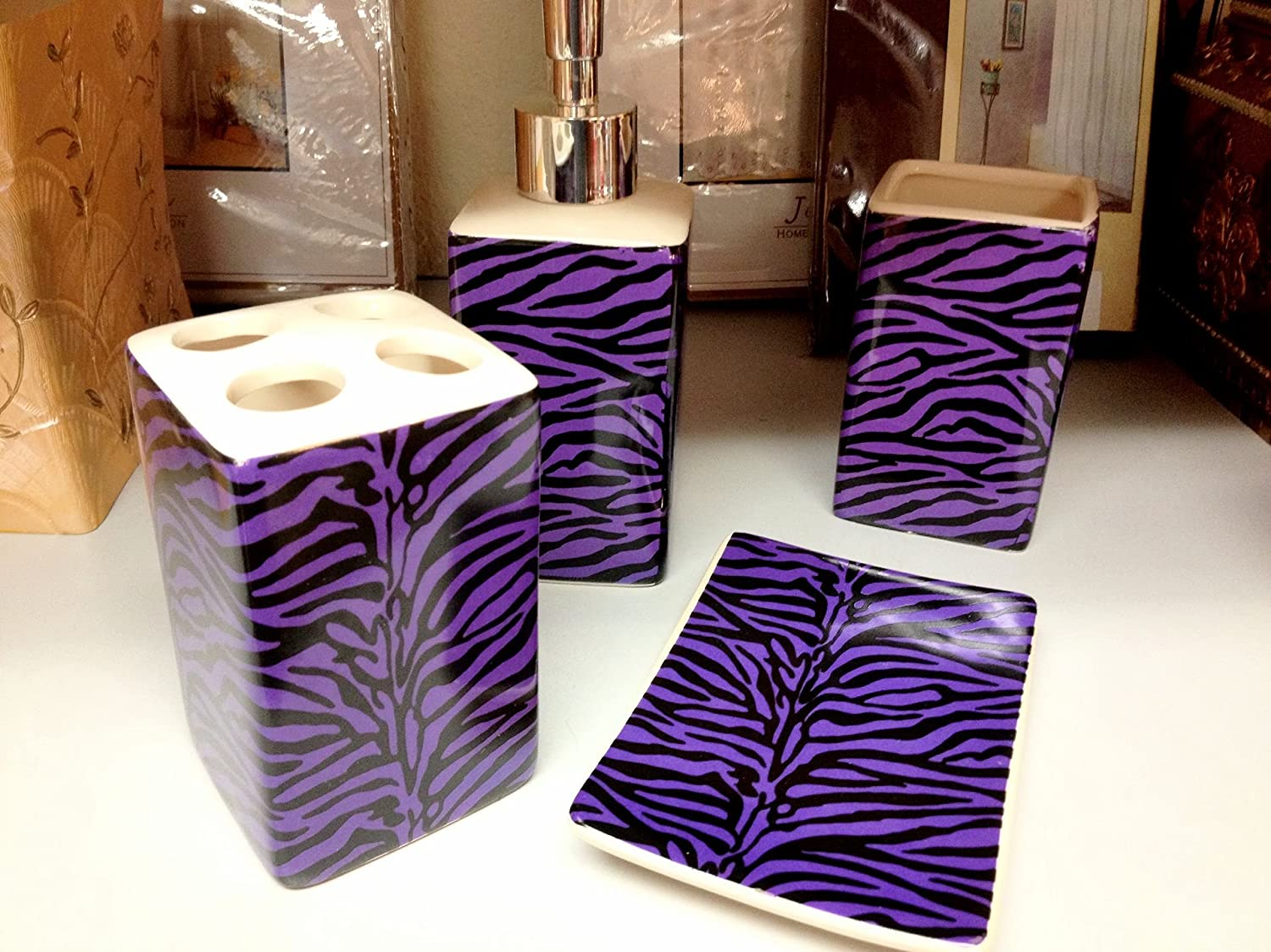Purple And Black Bathroom Accessories Images Pictures