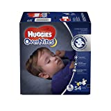 HUGGIES OverNites Diapers, Size 6, 54 ct, GIGA JR Overnight Diapers (Packaging May Vary) (Tamaño: 6)